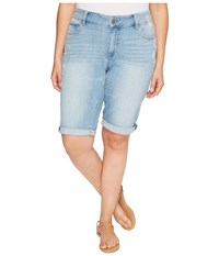 Lucky Brand Plus Size Ginger Bermuda Shorts In Withered Withered Women's Shorts Blue