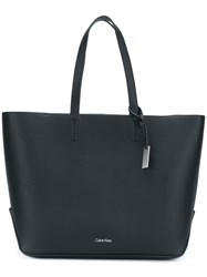 Calvin Klein Large Top Handle Tote Bag Polyurethane Black
