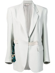 Natasha Zinko Oversized Blazer With Belt Bag Grey
