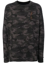 Unravel Project Camouflage Sweatshirt Cotton L Green