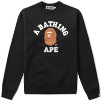 A Bathing Ape Boa College Crew Sweat Black