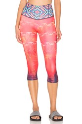 Onzie Graphic High Capri Orange