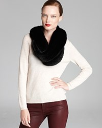Maximilian Knitted Mink Infinity Scarf Black