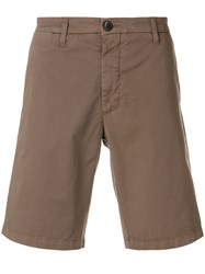 Eleventy Cargo Fitted Shorts Brown