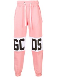 Gcds Logo Strip Joggers Pink And Purple