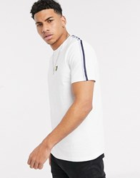 Lyle And Scott Side Taped T Shirt In White