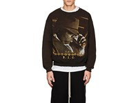 Madeworn The Notorious B.I.G. Distressed Cotton Blend Sweatshirt Black