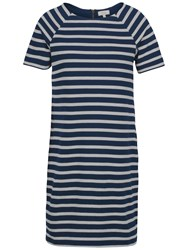 Fat Face Suzie Stripe Dress Navy