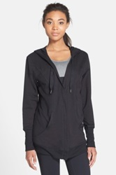 Zella 'Urban Zen' Hooded Cotton And Modal Cardigan Black