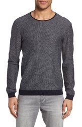 John Varvatos Men's Star Usa Cotton And Cashmere Sweater Midnight