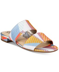 Sam Edelman Circus By Delaney Two Piece Slip On Sandals Women's Shoes Peach Multi