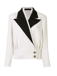 Proenza Schouler Cropped Tailored Blazer White