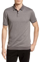 Vince Camuto Contrast Trim Knit Polo Grey
