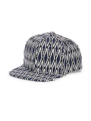 Gents Diamond Flat Brim Baseball Cap Blue