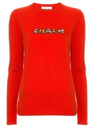 Bella Freud Charm Print Sweater Red