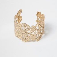 River Island Womens Gold Tone Filigree Cuff Bracelet