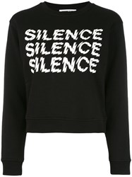 Mcq By Alexander Mcqueen Silence Sweatshirt Women Cotton M Black
