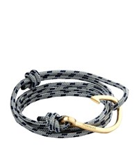 Miansai Gold Hook Rope Bracelet Unisex Grey