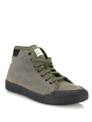 Rag And Bone Standard Issue Canvas High Top Sneakers Olive Black