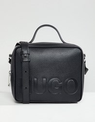 Hugo Logo Box Bag In Black