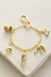 Anthropologie Rio Charm Bracelet Gold