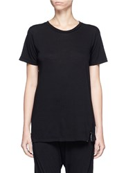 Bassike Slim Vintage Neck Organic Cotton T Shirt Black