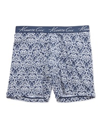 Kenneth Cole Scroll Print Boxer Briefs Navy Gray