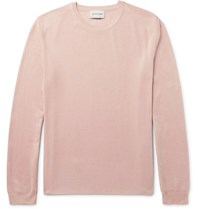 Solid Homme Silk Sweater Pink