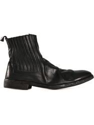 Guidi Distressed Chelsea Boots Black