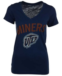 Royce Apparel Inc Women's Utep Miners Vintage Arch T Shirt Navy