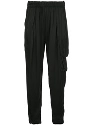 Raquel Allegra High Rise Draped Trousers 60