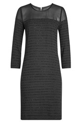 Karl Lagerfeld Crepe Mini Dress With Sparkle Detail