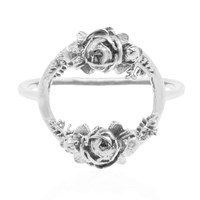 Lee Renee Rose Halo Ring Silver Grey Silver