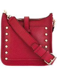 Rebecca Minkoff Studded Detail Crossbody Bag Red