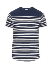 Orlebar Brown Isaac Cotton T Shirt Navy Multi