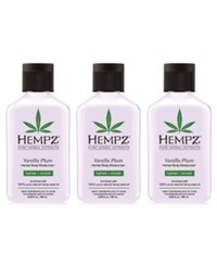 Hempz Vanilla Plum Herbal Body Moisturizer Trio Three Items 2.25 Oz From Purebeauty Salon And Spa