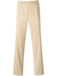 Canali Tailored Trousers Men Cotton Spandex Elastane 50 Nude Neutrals