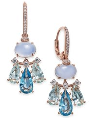 Danori Silver Tone Crystal Small Chandelier Earrings Rose Gold