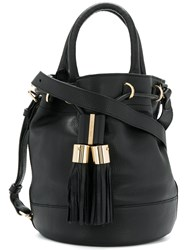 See By Chloe Tassel Duffle Tote Bag Women Cotton Leather One Size Black