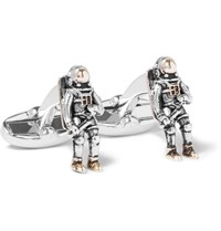 Paul Smith Spaceman Silver And Gold Tone Cufflinks Copper