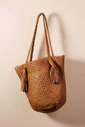 Monserat De Lucca Woven Bantay Tote Bag Brown