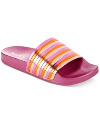 Kenneth Cole Reaction Women's Pool Pipes Jewel Flat Sandals Women's Shoes Fuchsia