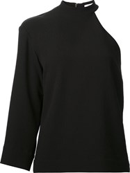 Nomia Cut Out Shoulder Blouse Black