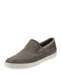 John Varvatos Jet Canvas Slip On Sneakers Gray