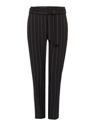 Therapy Lyra Pinstripe Paperbag Trousers Navy