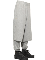 Astrid Andersen Cotton Paneled Jogging Trousers Heather Grey