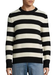 Rag And Bone Shane Striped Sweater Black White