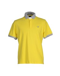 Henry Cotton's Topwear Polo Shirts Men Yellow