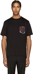 Paul Smith Black Floral Pocket T Shirt