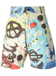 Ktz Graffiti Print Shorts Multicolour